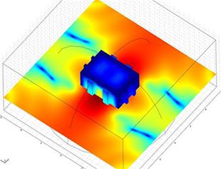 图像显示了油箱壁的位移及周围的声压级。