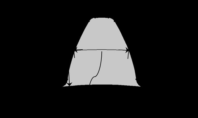 图像显示了控制外部轮齿的各个输入参数。
