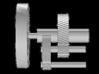 借助多体动力学模块创建的风机齿轮箱的几何模型。