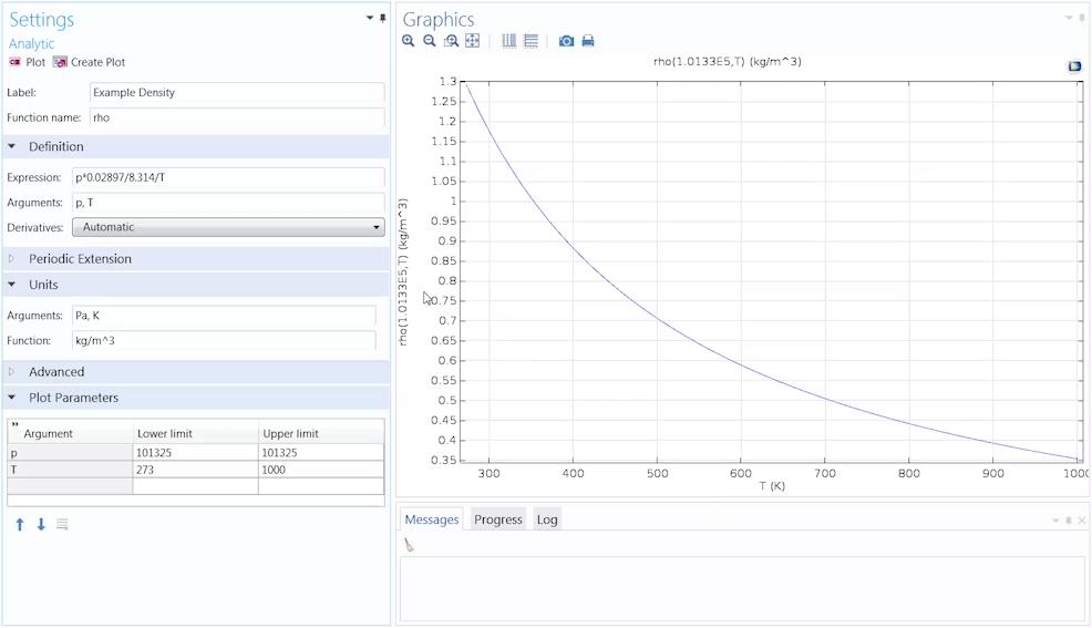 解析函数的输入框和曲线。