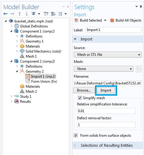 Import STL annotated 如何重新使用变形物体作为几何输入