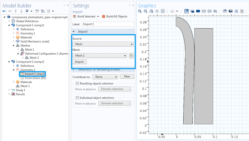 Import deformed mesh 如何重新使用变形物体作为几何输入