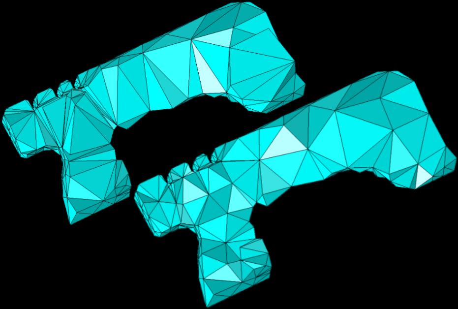 图像展示了第三步和第四步后四面体网格的内部图。