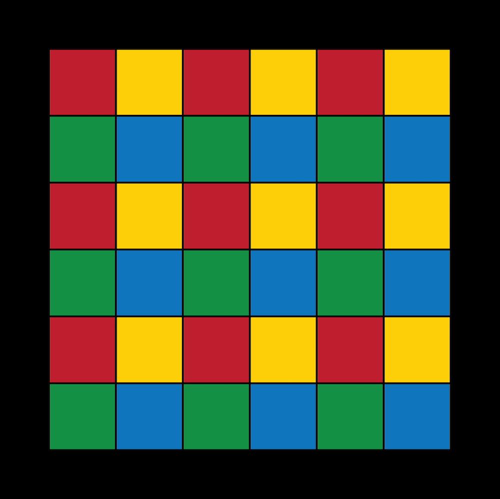图像突出显示了子域染色机制被用于倍增 Schwarz 型域分解方法的预处理步骤。