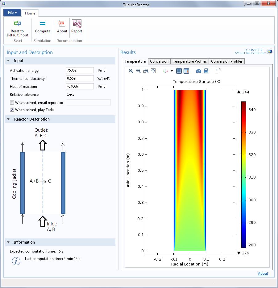 tubular reactor app App 开发器让更多人受益于多物理场仿真