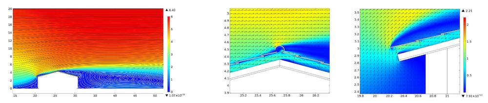 velocity magnitude roof tiles 利用多物理场仿真分析新型屋面瓦的设计