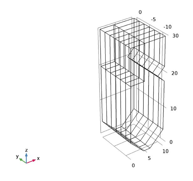 带障碍物的电厂锅炉模型示意图。