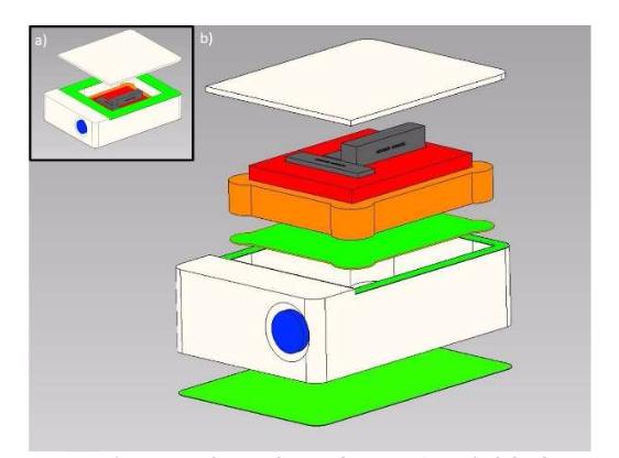 在COMSOL 用户年会 2016 慕尼黑站上展示的传感器封装设计模型。
