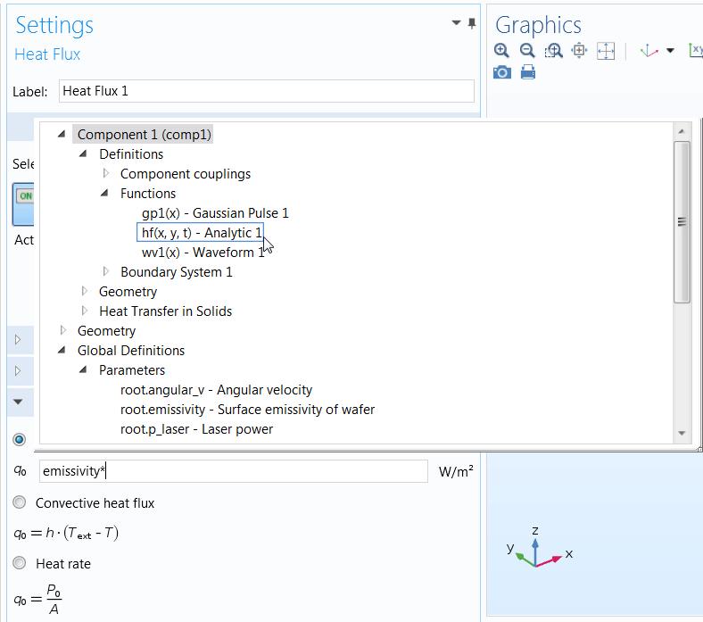 截图显示了如何使用 COMSOL Multiphysics中的'自动完成'工具。