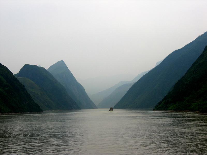 中国长江的照片。