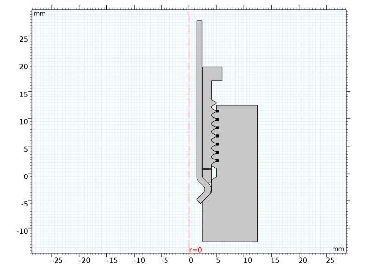 图片显示应力分析的二维截面。