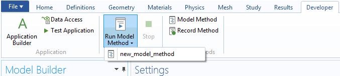 how to run a model method 如何使用模型方法来加速 COMSOL® 工作流程
