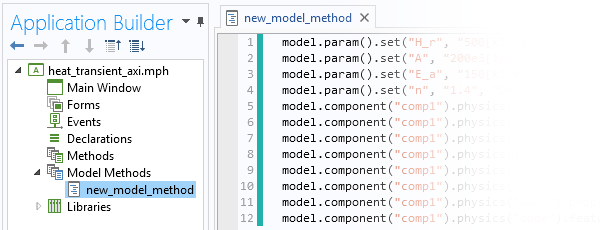 model method in the Application Builder 如何使用模型方法来加速 COMSOL® 工作流程