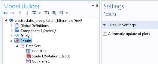 显示了如何在COMSOLMultiphysics® 中关闭自动绘图更新设置