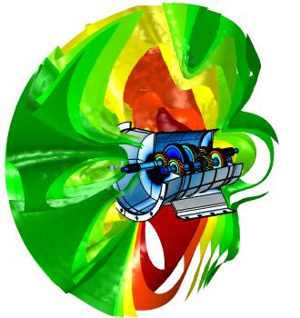 齿轮箱的声-力学耦合分析图像。