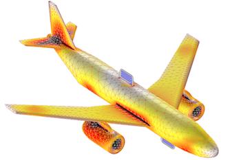 飞机的电磁模型。