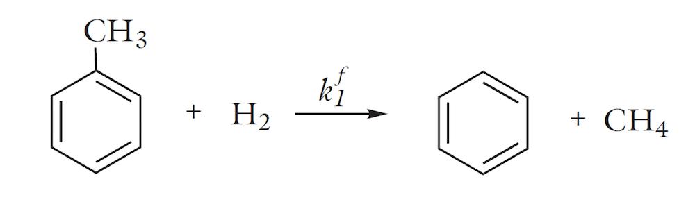 不可逆的甲苯脱烷基化反应