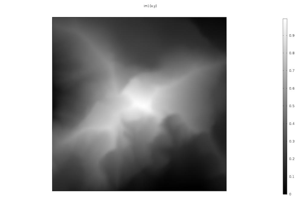 马特宏峰高度的灰度图像