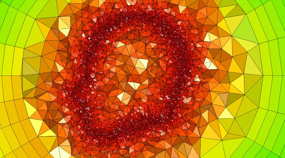 使用网格过滤器创建的 COMSOL Multiphysics 网格图