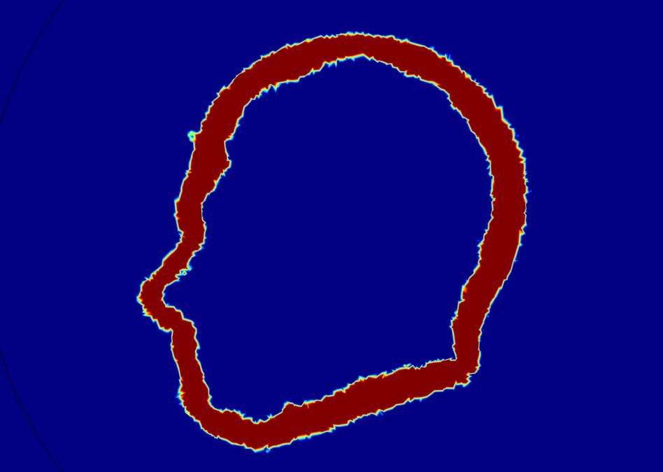 使用变量创建的 COMSOL 切面图