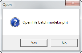 要求在集群作业完成后打开 MPH 文件的对话框。