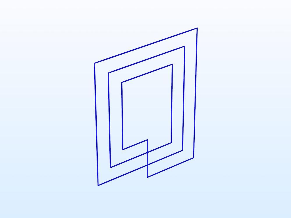 RFID 标签的几何。