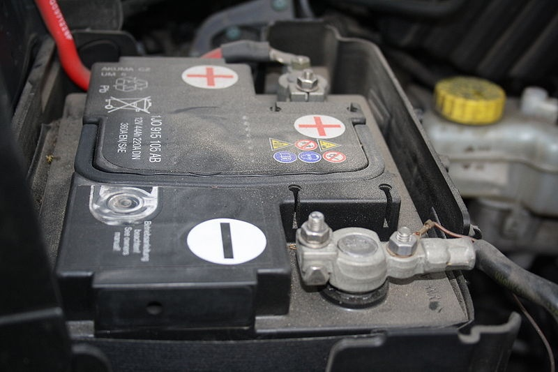 A photo of a car battery.