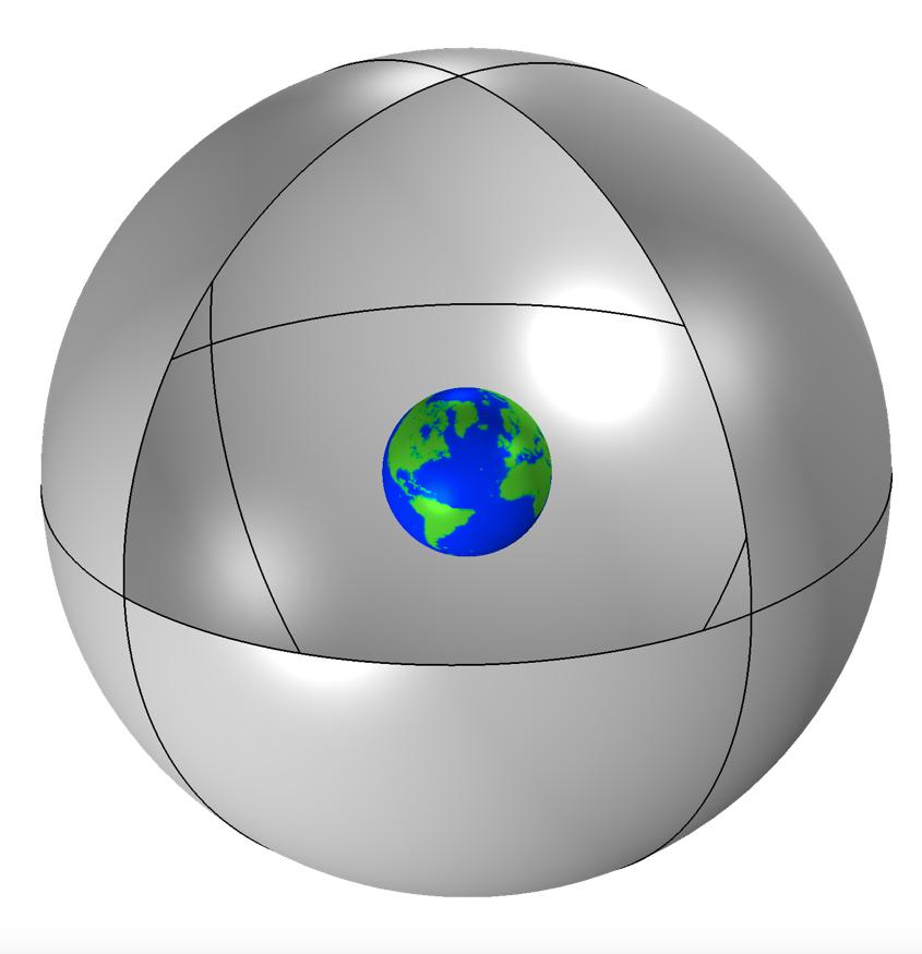 模型的磁场域图像