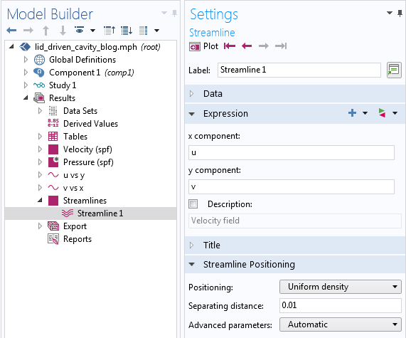 截图显示了'流线定位'功能的'设置'窗口。
