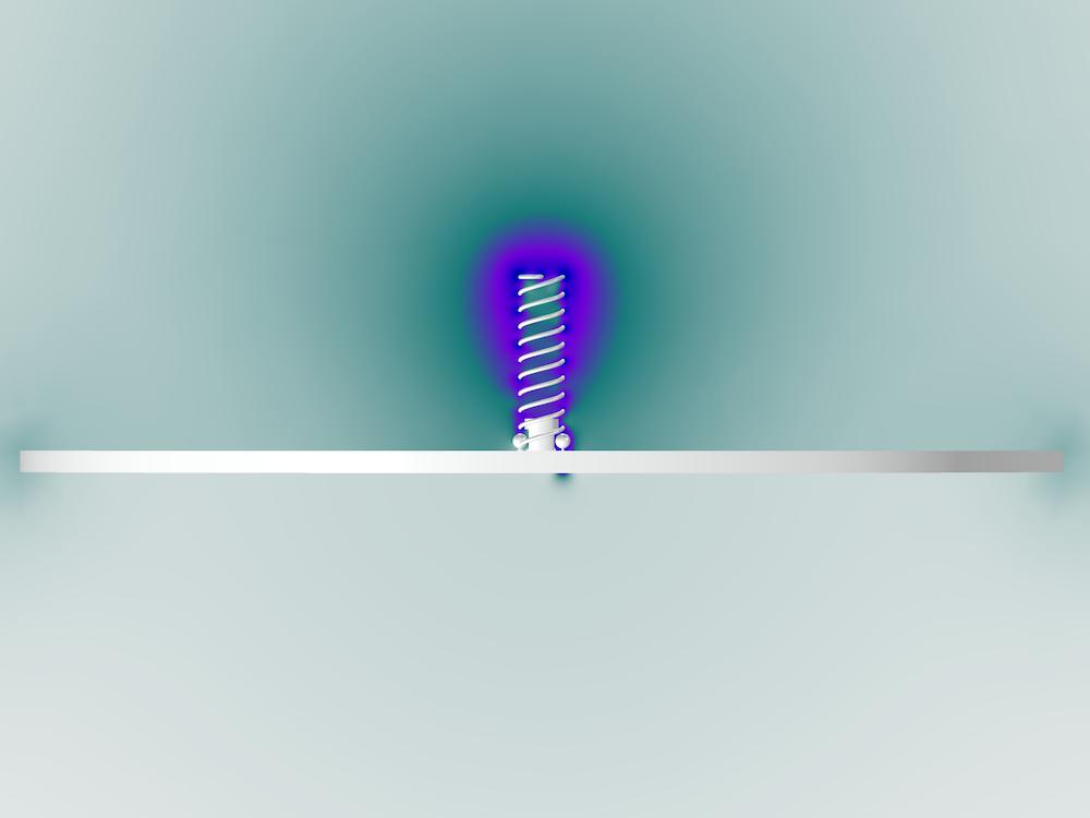 双臂螺旋天线的法向模式分析。