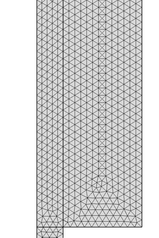 喷墨打印机喷嘴模型的基础网格 。