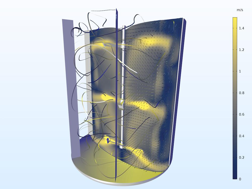 间歇式反应器混合器模型
