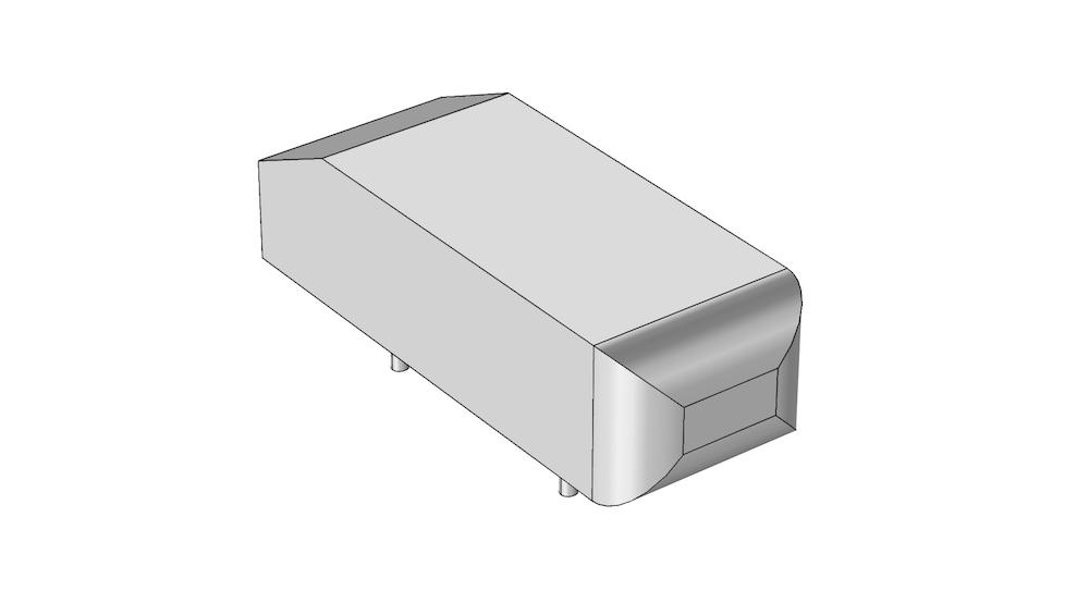Ahmed 类车体的 CAD 几何结构。