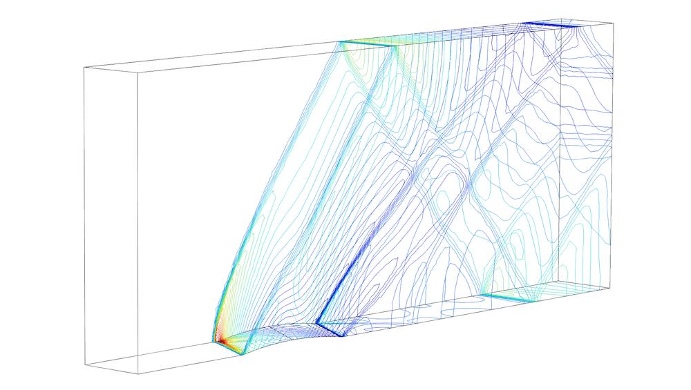流经凸起物的欧拉流动的模型