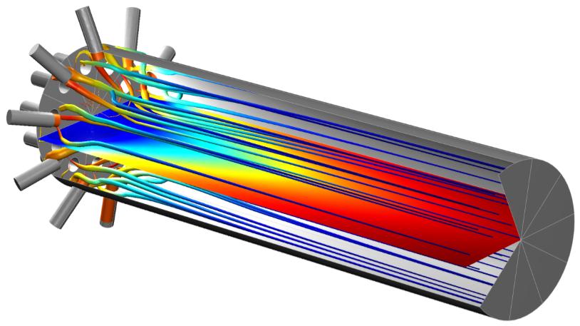 多喷嘴管式反应器模型