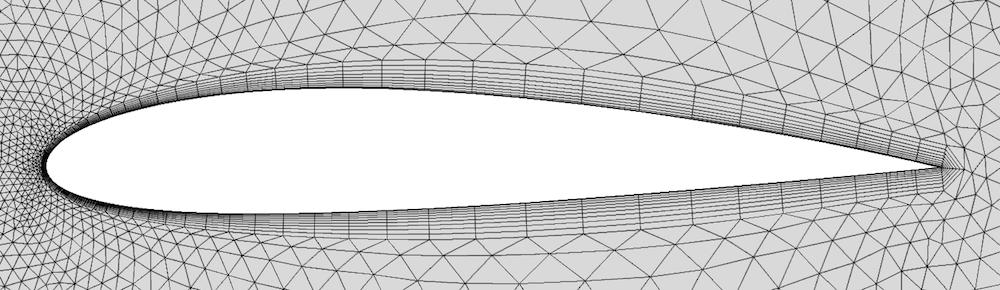 通过拆分边界层来处理锐边的示例。