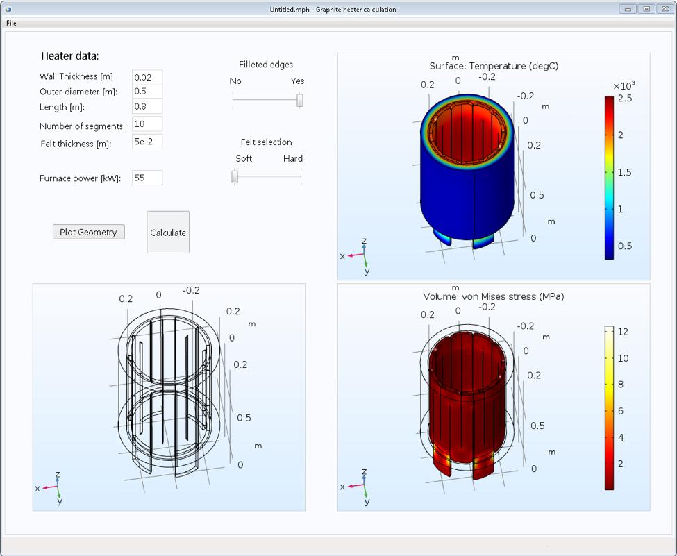 SGL Carbon GmbH的石墨加热器计算应用程序截图