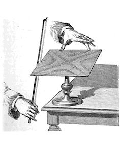 显示克拉尼图形产生技术的插图。