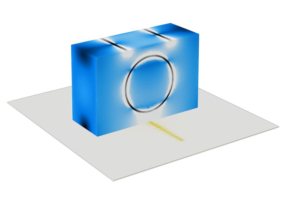 缝隙耦合 DRA 的模型。