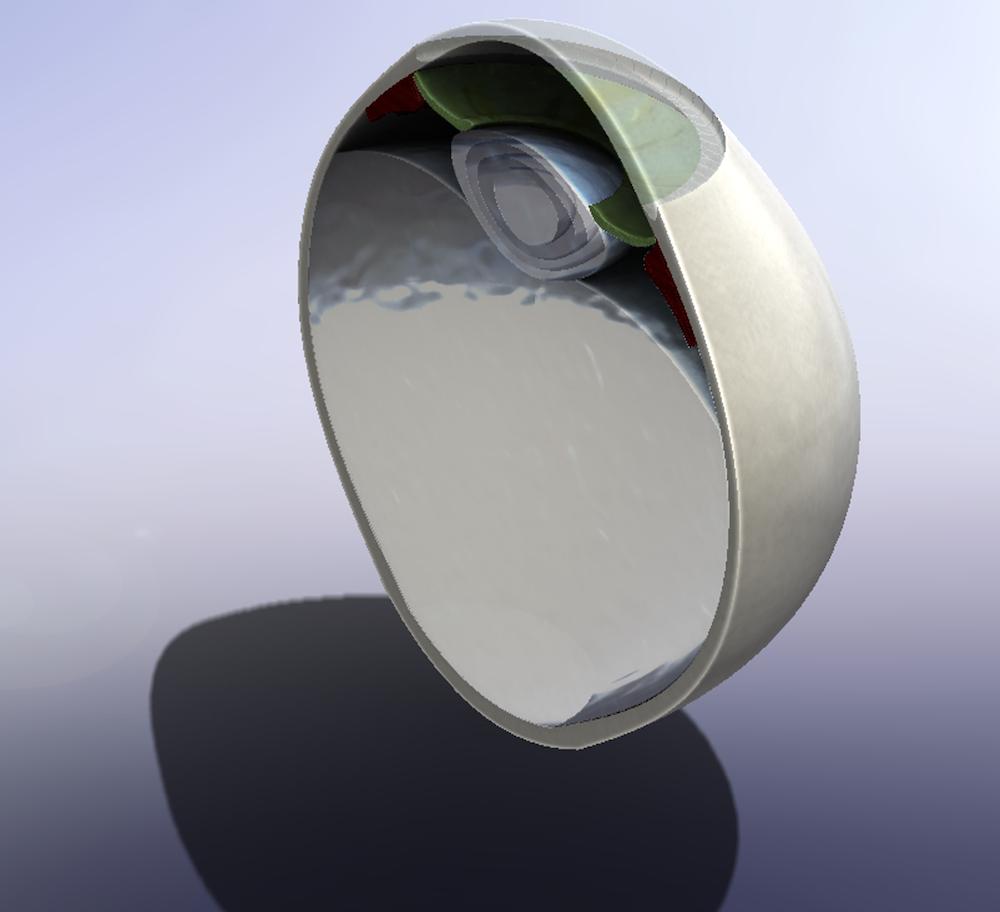 人眼 CAD 模型的图像。
