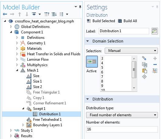 热交换模型的网格序列屏幕截图。