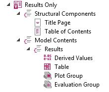 只包含仿真结果的报告模板屏幕截图。
