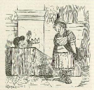 """阿基米德在浴缸里大喊""""找到了""""的瞬间漫画示意图"""