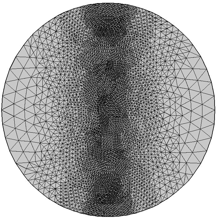 使用最长边细化作为其网格自适应方法的模型图像。