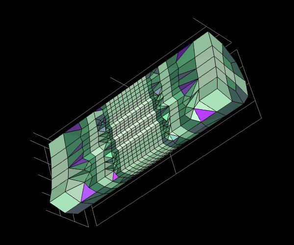 圆柱体模型的自适应网格