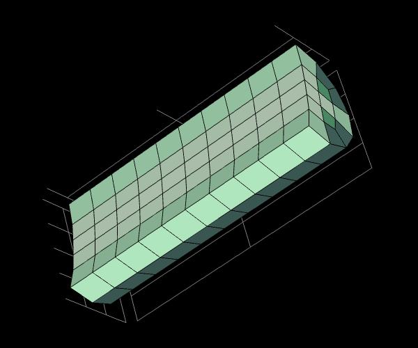 默认的圆柱体网格