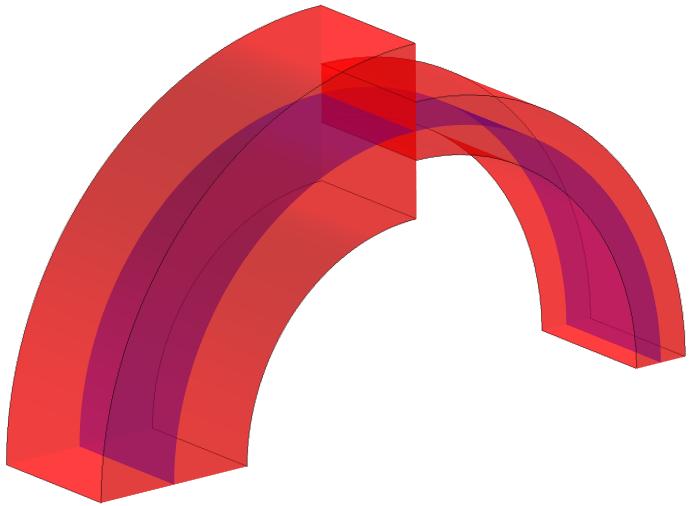 多层壳的重建体积域示意图
