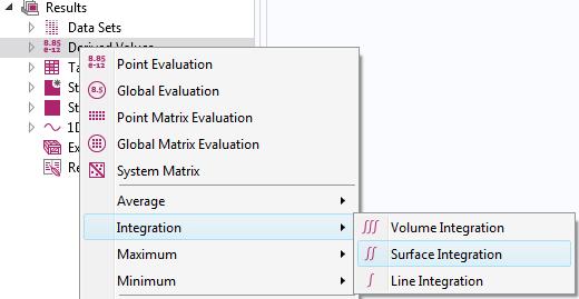 显示如何在后处理过程中添加积分节点的屏幕截图。