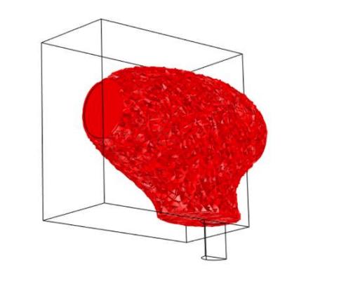 麦克风偏离中心的激光束三维绘图。