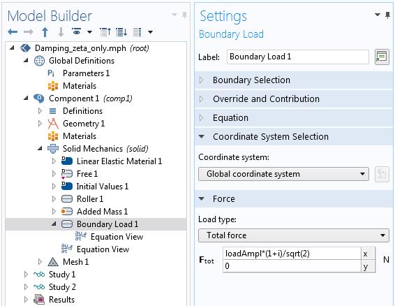 显示负载的复杂表示的屏幕截图在模型构建器设置中。